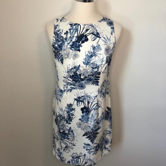 Alyx Sleeveless Print Sheath Dress Blue Size 12